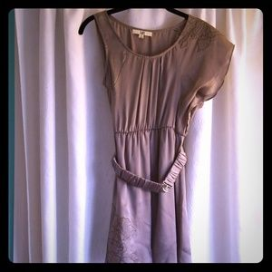 Silver dress with matching expanding belt